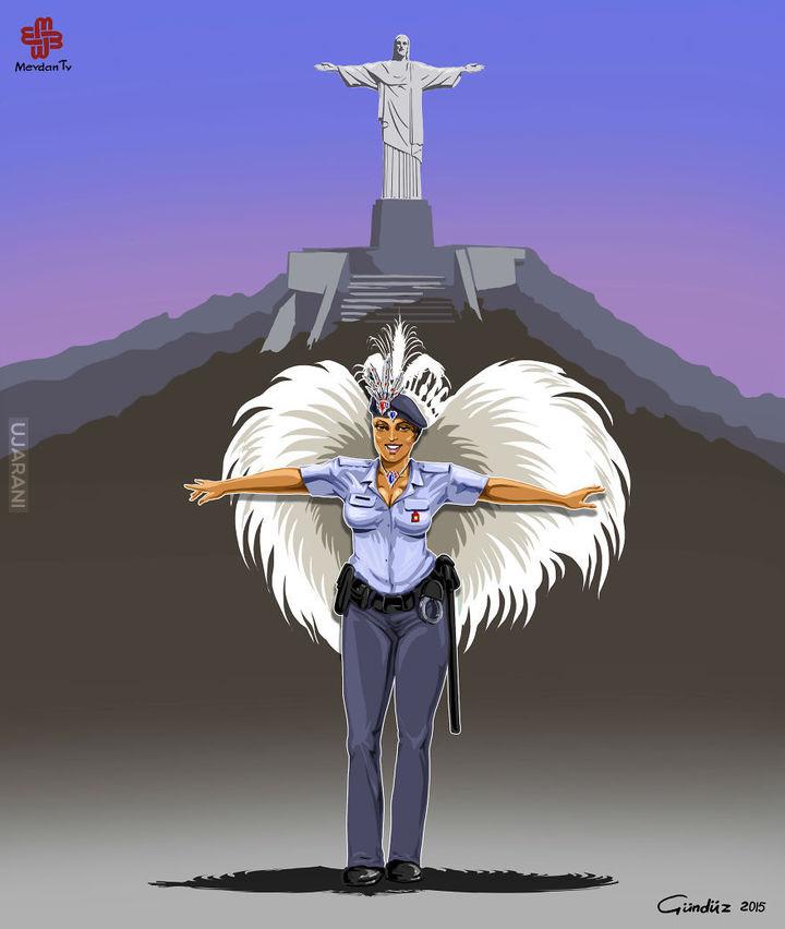 Policja świata - Satyryczne ilustracje