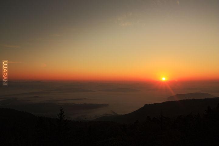 Wschód słońca widziany ze Szczelińca