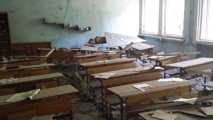 Czarnobylska Strefa Wkluczenia - Szkoła (podstawowa?) w Prypeci. 2015