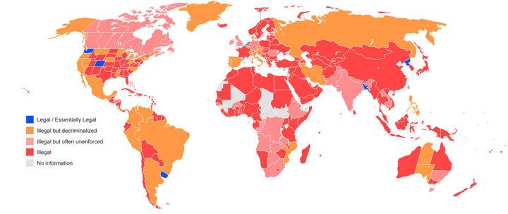 Kraje w których marihuana jest legalna
