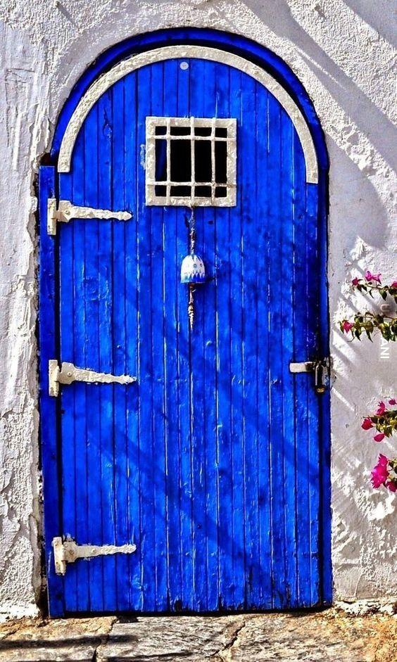 Drzwi, błękit