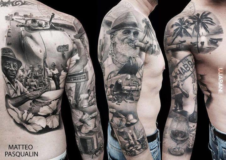 Фото эскизы тату рукавов для мужчин