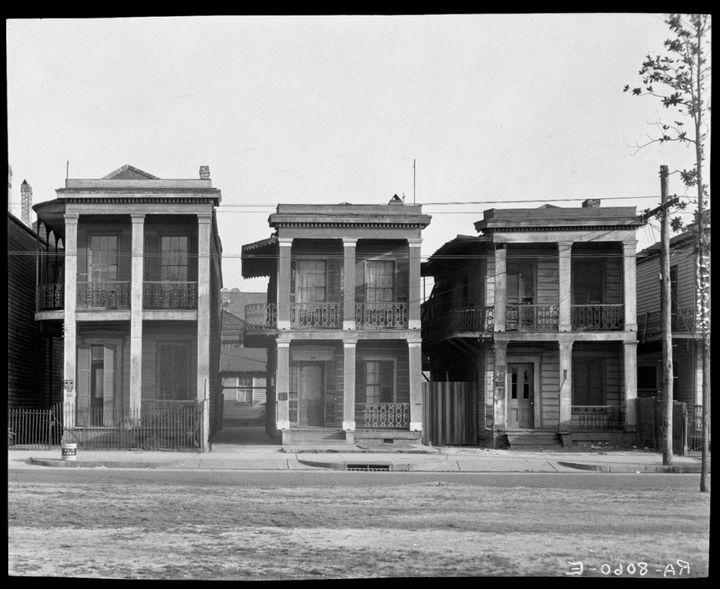 Domy  w Nowym Orleanie 1936 rok