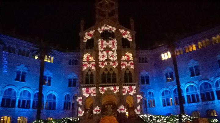Hospital de Sant Pau - pokaz świetlny