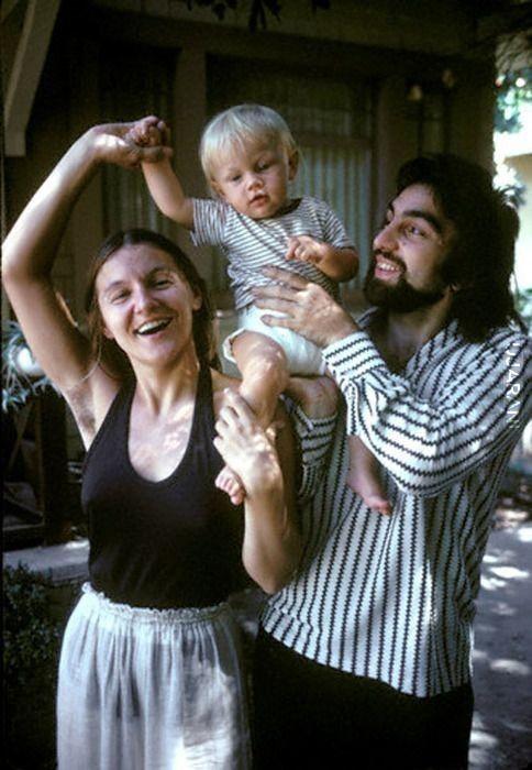 Młody Leonardo DiCaprio z rodzicami
