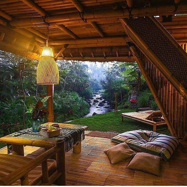 bambusowy domek