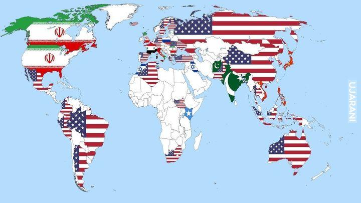 Które państwo jest największym zagrożeniem dla pokoju na świecie (2013)? Opinie obywateli wybranych krajów.