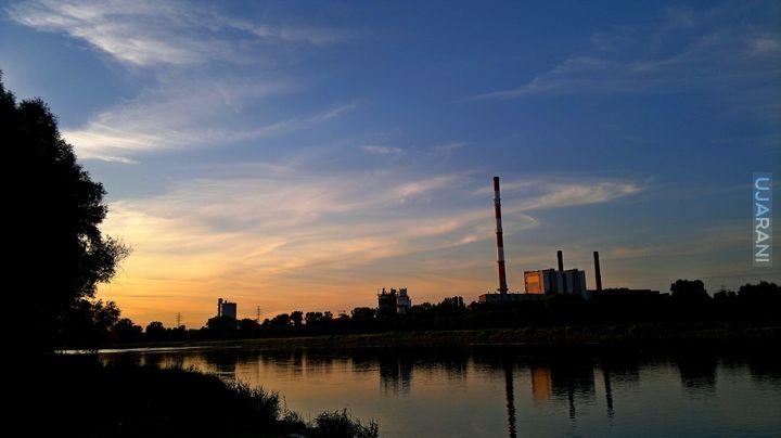 Warszawa wieczorem.