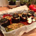 Cukinia nadziewana ragout i roquefortemi z ropapryką nadziewaną cukinią ze świeżym tymiankiem :)