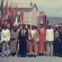 przedstawiciele kolonii włoskich witają hitlera podczas jego wizyty we włoszech maj 1938