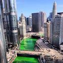 Zielona rzeka - obchody Dnia Św. Patryka w Chicago