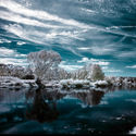 Zimowy landszafcik podkręcany photoshopem.