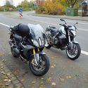 Jesienną porą. BMW R 1200 RS & HONDA CB 1000R