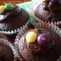 Muffinki coca cola z cherry brandy i czekoladą