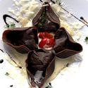kakaowe cappellacci z sarniną i czekoladą