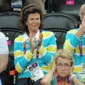 Król Szwecji kibicuje swoim na olimpiadzie.