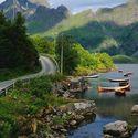 Mountain lake, Nordland Fylke, Norway