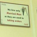 Zatrudniamy tylko żonatych