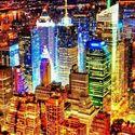 Miasto nocą.
