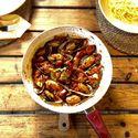 Małże w sosie pomidorowo-piri piri :D