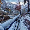 Zima w Alpach.