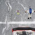 Shane McConkey i Miles Daisher, base jumping z kolejki górskiej, Whistler, Canada.