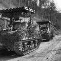 M4 z wyrzutniami T34 Calliope. Niemcy 1945