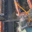 Montowanie wieżyczki na katedrze szczecińskiej