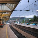 stacja kolejowa w Skipton , pólnocna Anglia.