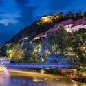 Graz.. tego nie było. Rzeka..Mur..