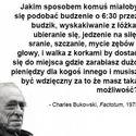 Bukowski zawsze prawdę Ci powie