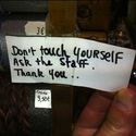 Nie dotykaj się
