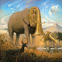 Słonie grające na trąbach..