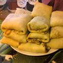 Krokiety z szynka, serem i pieczarkami