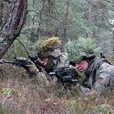 Współpraca polsko-amerykańska. Zdjęcie ze wspólnego szkolenia amerykańskich kawalerzystów i naszych podhalańczyków z 21 BSP.