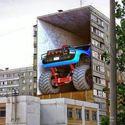 Ścienny Monster Truck