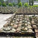 Nieczynna fabryka czołgów na Ukrainie