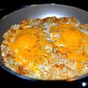 Jajka z serem i ziemniakami