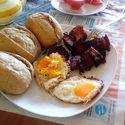 Polsko- Niemieckie śniadanko... Na odwal, ale smacznie...
