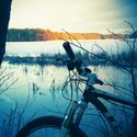 zimowo,rowerowo
