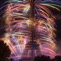 14 lipca fajerwerki z wieży eiffla