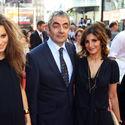 Rowan Atkinson z żoną i córką