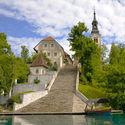 Kościół na wyspie Bled ...