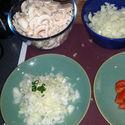 Zapiekanka z serem i pieczarkami