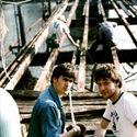 Bruce Campbell i Sam Raimi na planie The Evil Dead. Dla tych co wiedza o co cho