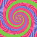 dowcipny mózg-zielone i niebieskie paski są tego samego koloru