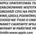 wolność wg apple