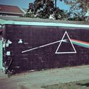 Dark side of the moon on the wall