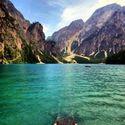 Lago di Braies, Włochy.