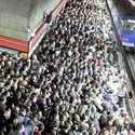 Godziny szczytu w metrze w Sao Paulo